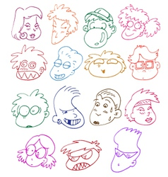 comics characters set vector image vector image