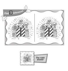 find 9 differences game whale gifts vector image vector image