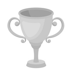 gold cup for the first placethe award winner of vector image