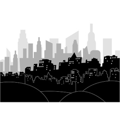 Modern city by night vector image
