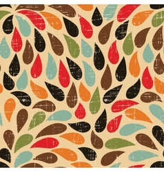 Seamless abstract retro drops pattern vector image vector image