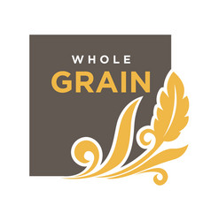 whole grainemblem ear of wheat ecology symbol vector image vector image