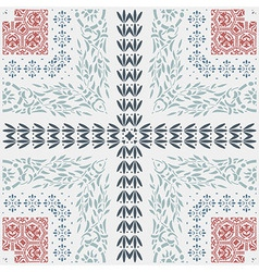 Baroque set floral and ornaments elements vector image