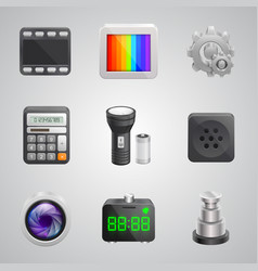 components of the mobile phone vector image