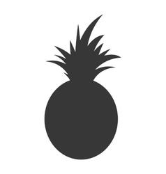 Pineapple fresh fruit isolated icon vector