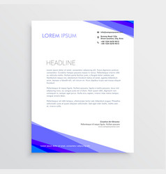 Abstract purple shape letterhead design vector
