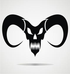 Black Demon Skulls vector image