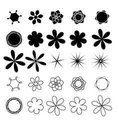 flower set image vector image