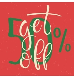 Get 50 percent Off Sale Poster vector image