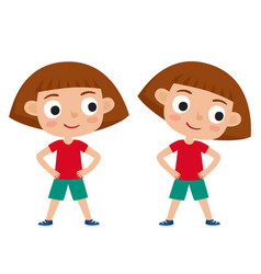 girl in exercise pose vector image vector image