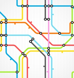 Seamless background of metro scheme vector image vector image
