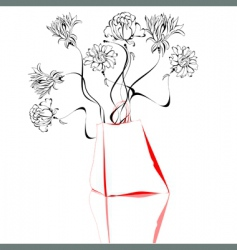sketch with shopping bag vector image