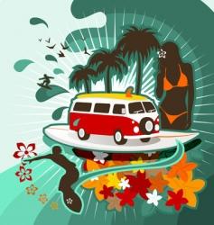 surfing camper vector image