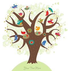 Tree of love vector image vector image