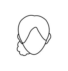 Woman head silhouette vector