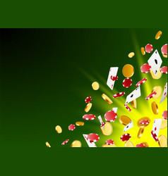 a big victory winning in the casino vector image