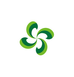 abstract nature logo vector image
