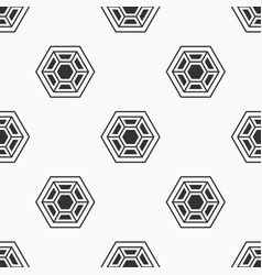 Abstract seamless pattern of hexagons vector