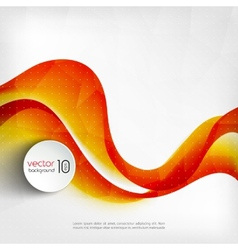 Abstract transparent orange wave background vector