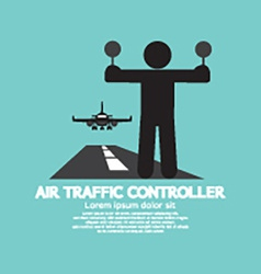 Air Traffic Controller Graphic Symbol vector image