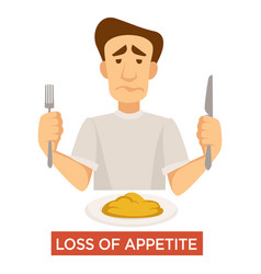appetite loss food rejection tuberculosis vector image