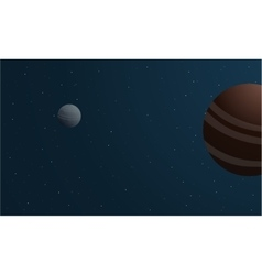 At night space planet all they beauty landscape vector