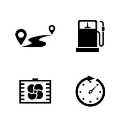 Auto simple related icons vector