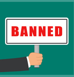 Banned word sign flat concept vector