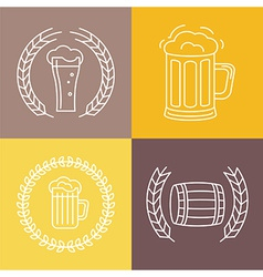 beer logos and signs vector image