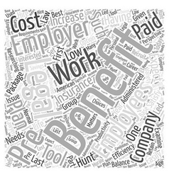 Benefits of Prepaid Plans for Your Company Word vector image