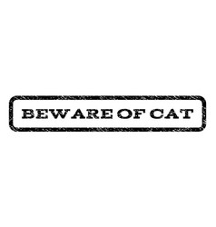 Beware of cat watermark stamp vector