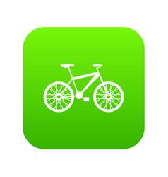 bike icon digital green vector image