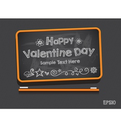Blackboard Valentine s Day Background vector image