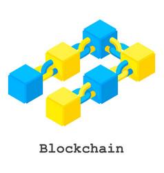 Blockchain icon isometric style vector