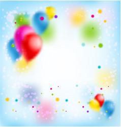 Blur happy birthday banner vector