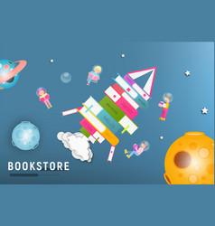 Bookstore or book festival poster design vector