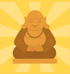 Budda statue from thailand harmony budha culture vector