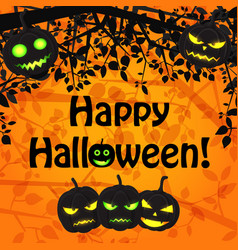 cartoon halloween natural template vector image