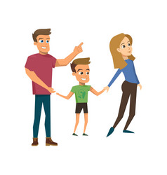 cartoon happy family concept vector image