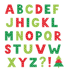 Christmas cartoon alphabet isolated design vector