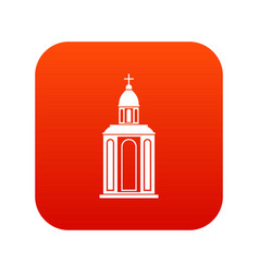 Church icon digital red vector