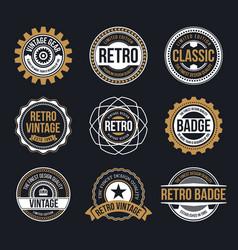 Circle vintage and retro badge design vector