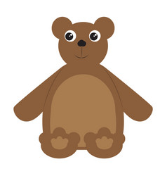 colored teddy bear toy icon vector image