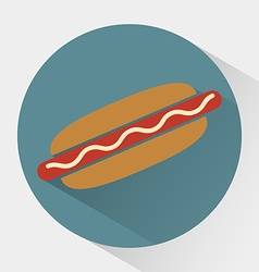 Colorful Hot dog icon vector