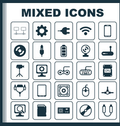 Computer icons set collection of joystick vector