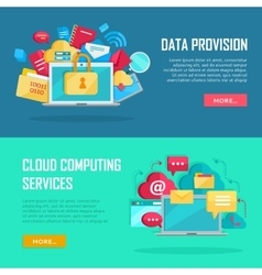 Data Provision Cloud Computing Services Banners vector image
