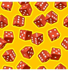 dice seamless background vector image