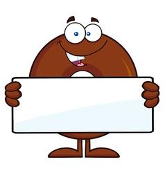 Donut Cartoon Holding a Sign vector