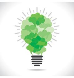 Eco-friendly message bubble making bulb concept vector image