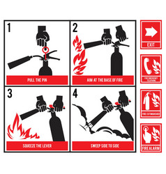 fire fighting technical silhouette of fire vector image